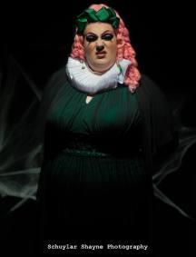 Ida Carolina standing dressed as Claudia the Vampire