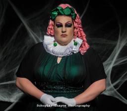 Ida Carolina seated dressed as Claudia the Vampire