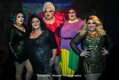 Anna Tomical, Jacqueline St. James, Eureka O'Hara, Ida Carolina, and Sya Cox O'Hara in a family photo
