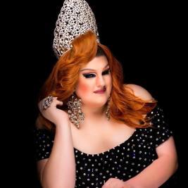 Ida Carolina in her Miss Gulf Coast Comedy Queen crown.